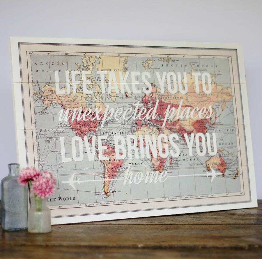 17 Cool Ideas For World Map Wall Art – Live Diy Ideas With Regard To Map Wall Art (Image 1 of 20)