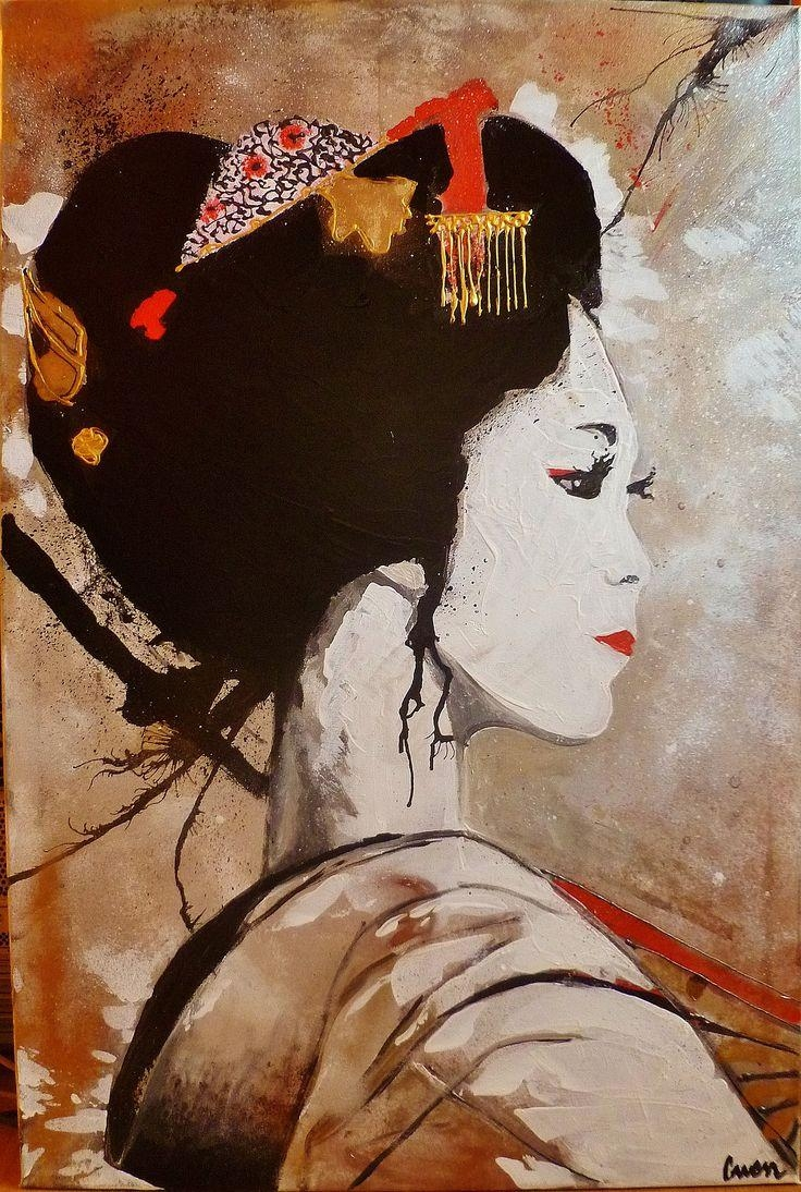 170 Best Geisha Art & Photography Images On Pinterest | Geishas For Geisha Canvas Wall Art (Image 1 of 20)