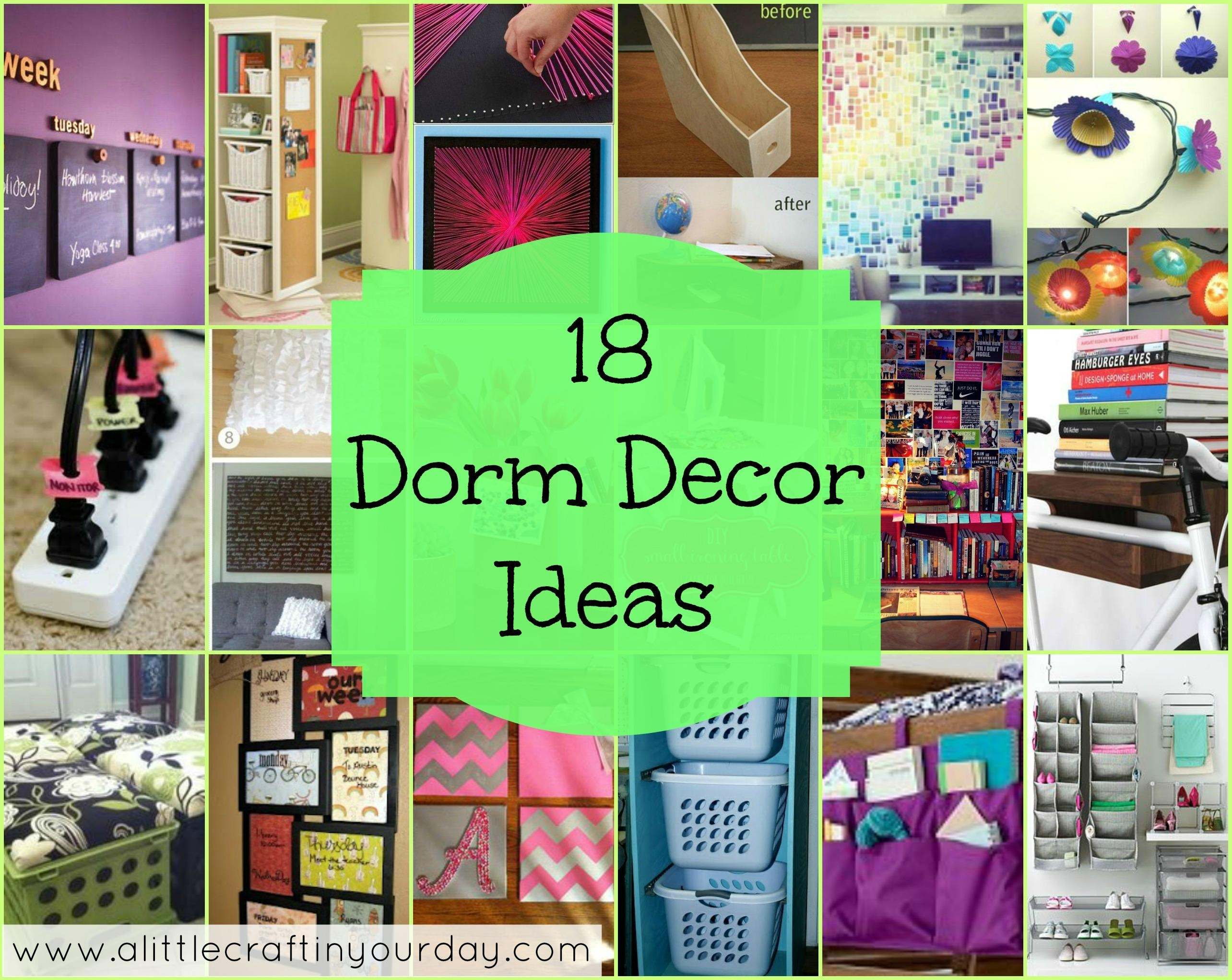 18 Dorm Decor Ideas – A Little Craft In Your Day For College Dorm Wall Art (Image 3 of 20)