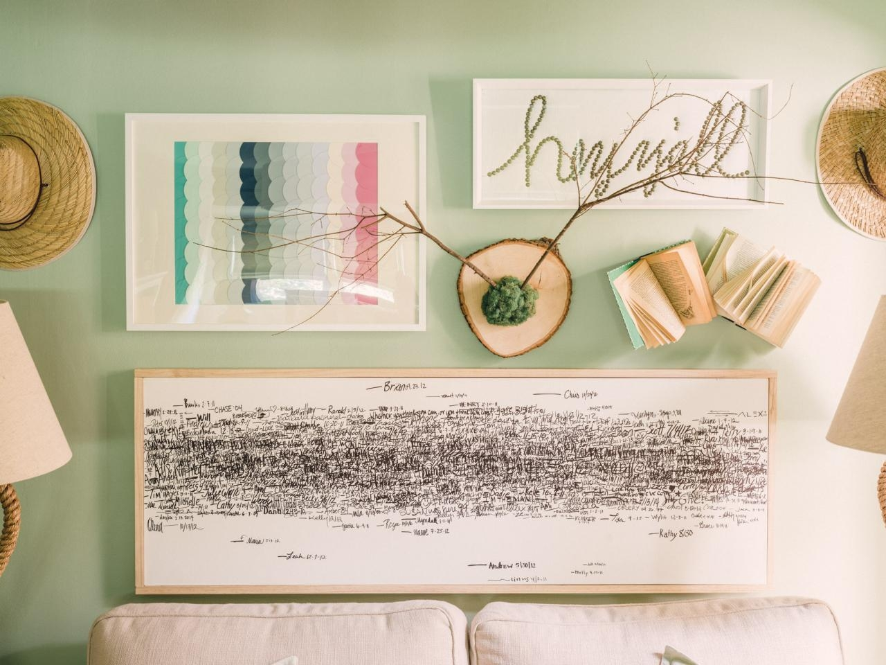 18 Genius Wall Decor Ideas | Hgtv's Decorating & Design Blog | Hgtv with regard to Mother of Pearl Wall Art