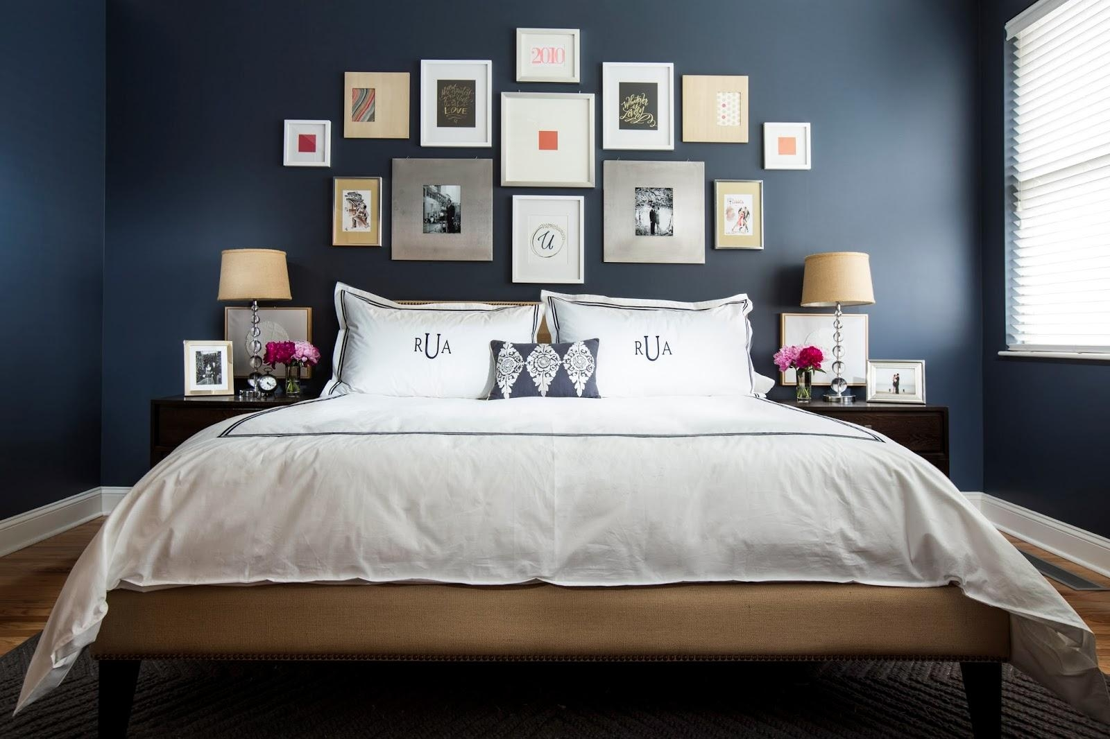 18 Modern Bedroom Wall Designs within Over The Bed Wall Art