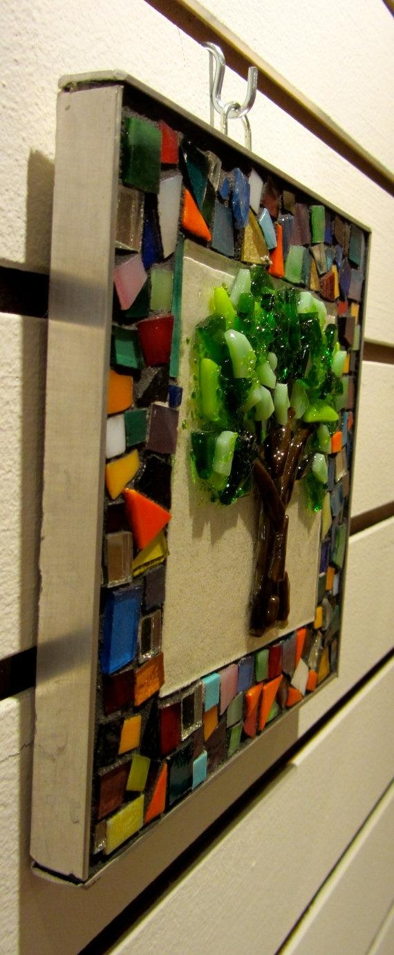 19 Best To Do With Scrap Glass Images On Pinterest | Fused Glass With Fused Glass Wall Art Hanging (View 15 of 20)