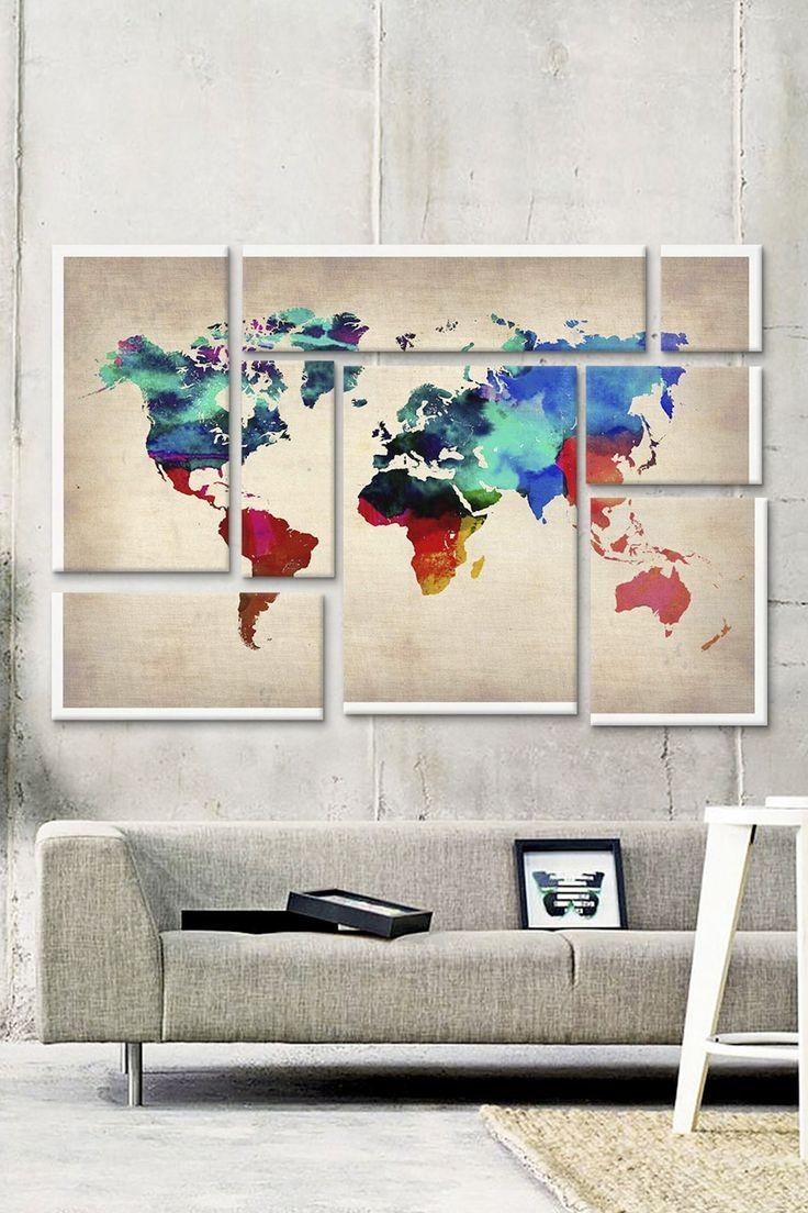 190 Best Map & Skyline Art/decor Images On Pinterest | Cities In Map Wall Art (Image 2 of 20)