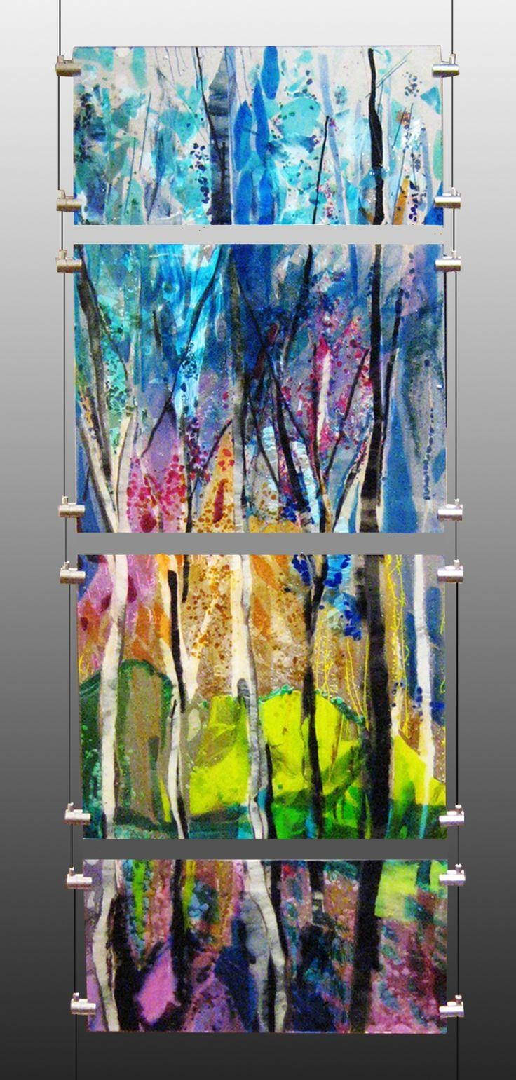20 inspirations fused glass wall art