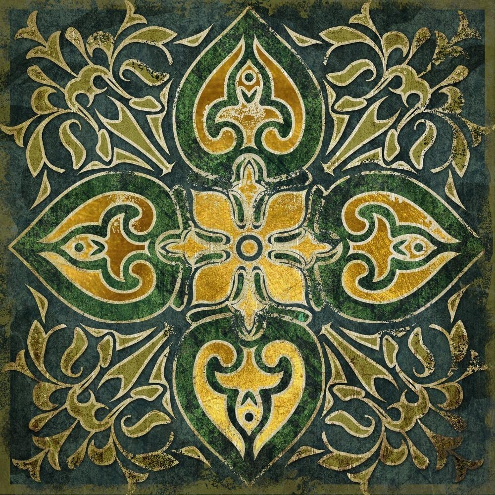2015 Hot 3 Panel Emerald Indian National Pattern Retro Canvas Wall Inside Pattern Wall Art (View 4 of 20)