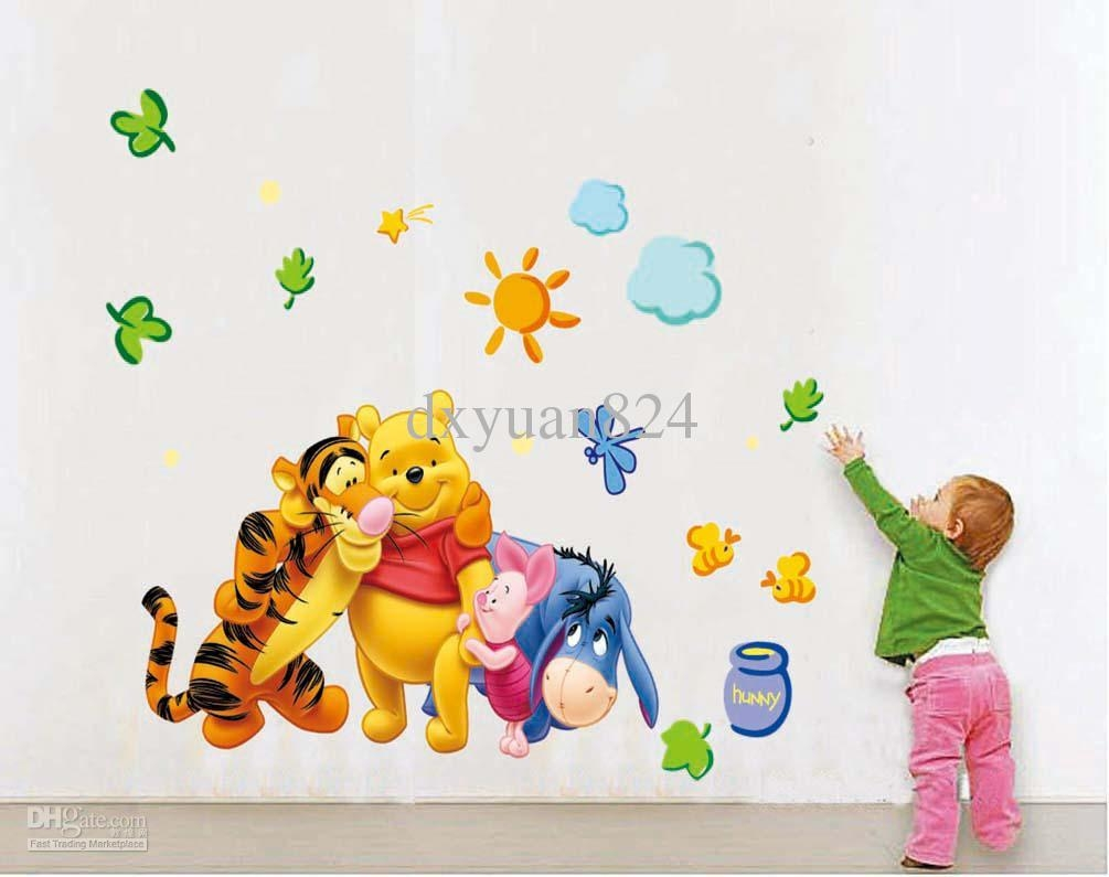 2016 New Removable Wall Stickers My Friends Tigger And Winnie The Regarding Winnie The Pooh Wall Decor (Image 1 of 20)