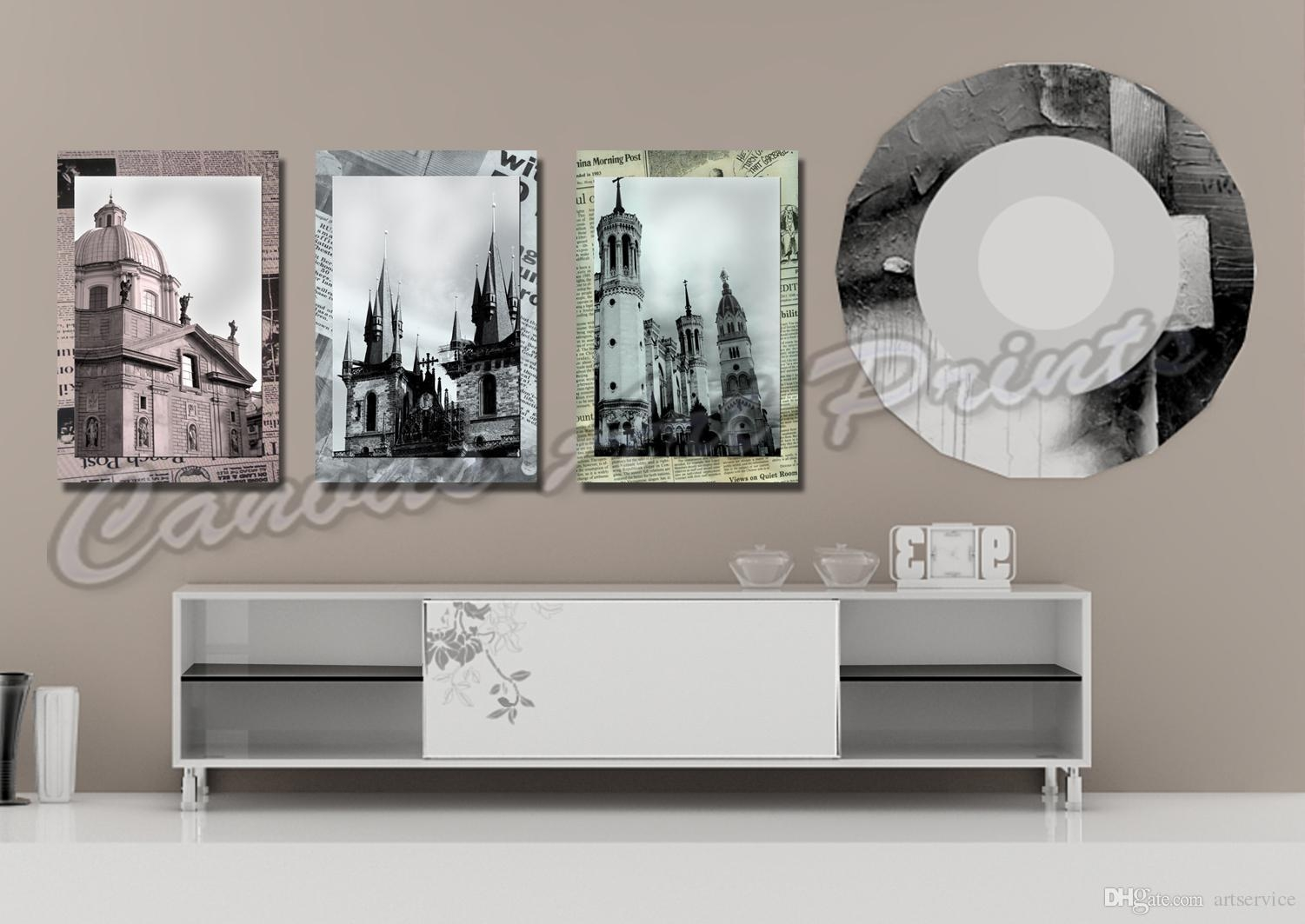 2017 Cheap Large Framed Art Home Decor Wall Paintings 3 Panel Wall Within Large Framed Wall Art (Image 1 of 20)
