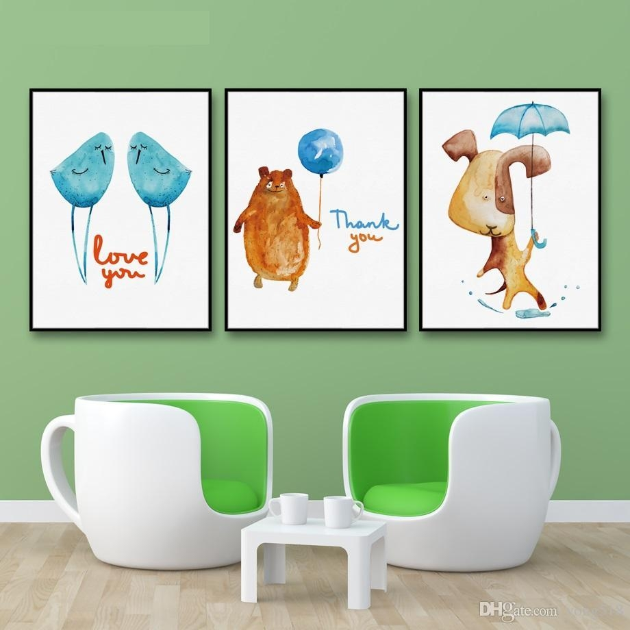 2017 Decoration Painting Nordic Animal Love Bird Wall Art Painting with Animal Wall Art