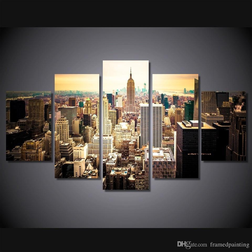 2017 Framed Hd Printed New York City Picture Wall Art Canvas Print Inside New York City Canvas Wall Art (View 11 of 20)