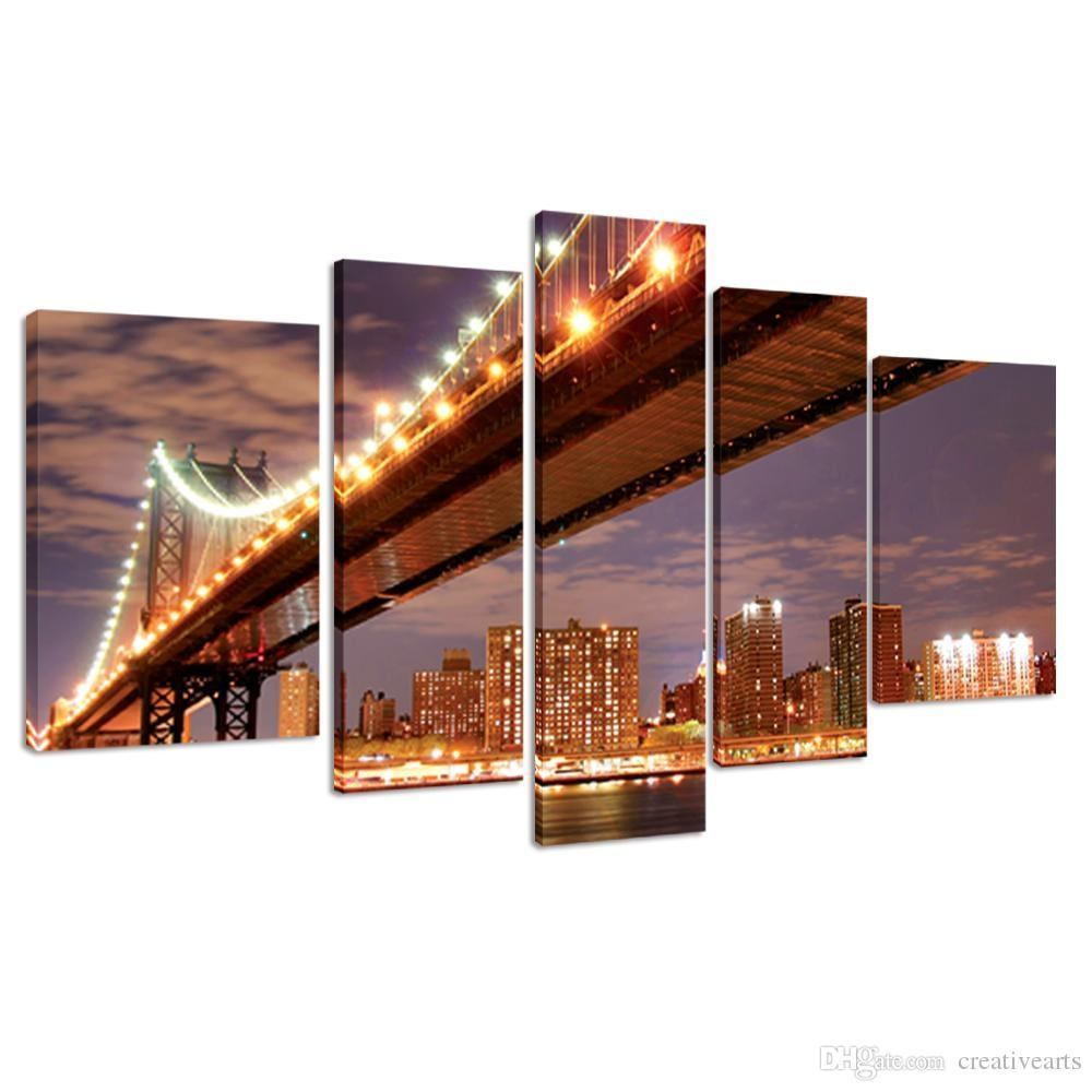 2017 Gallery Wrap Canvas Prints Large Size Modern Canvas Wall Art Inside Cityscape Canvas Wall Art (Image 2 of 20)