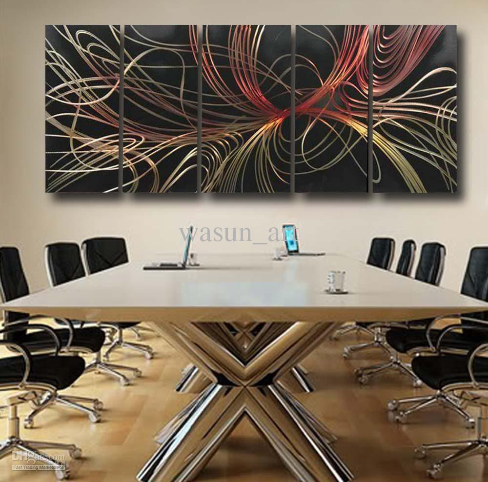 2017 Modern Abstract Painting,metal Wall Art Sculpture,wall inside Cheap Contemporary Wall Art
