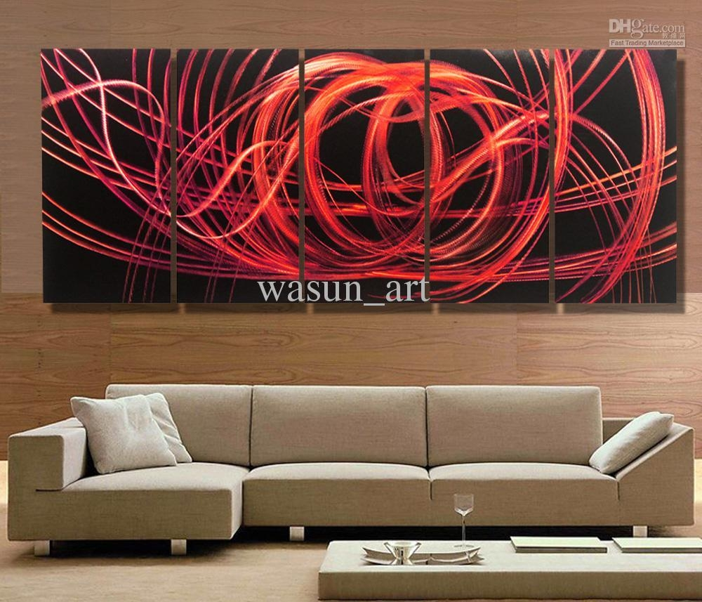 2017 Modern Contemporary Abstract Painting,metal Wall Art Within Oversized Wall Art Contemporary (Image 1 of 20)