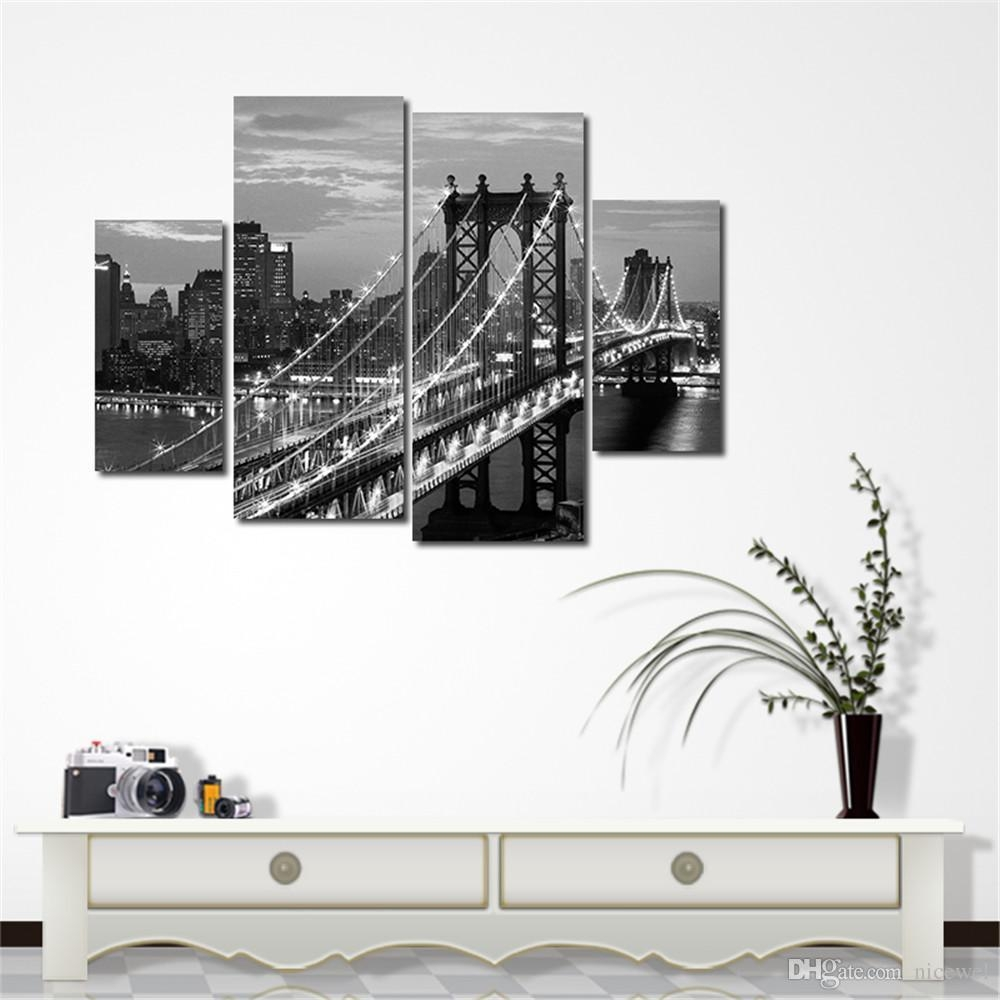 2017 Modern Huge Wall Art Oil Painting On Canvas Skye Bridge within Huge Wall Art