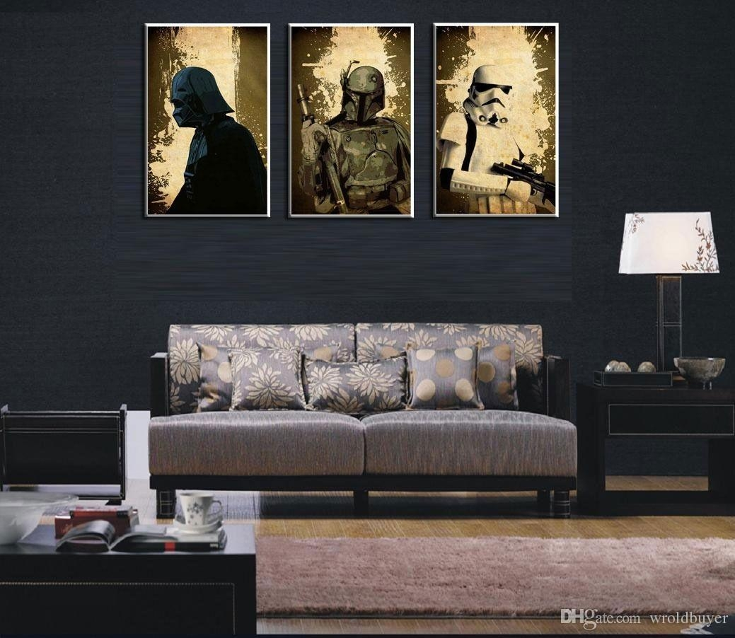 2017 Modern Huge Wall Art Oil Painting On Canvas,star Wars With Modern Oversized Wall Art (Image 2 of 20)