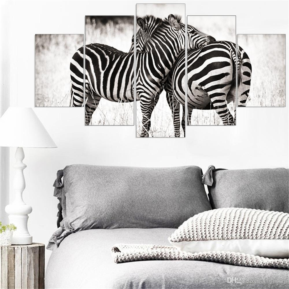 2017 Mordern Canvas Painting Animal Zebra Wall Art Posters And Intended For Modular Wall Art (Image 1 of 20)