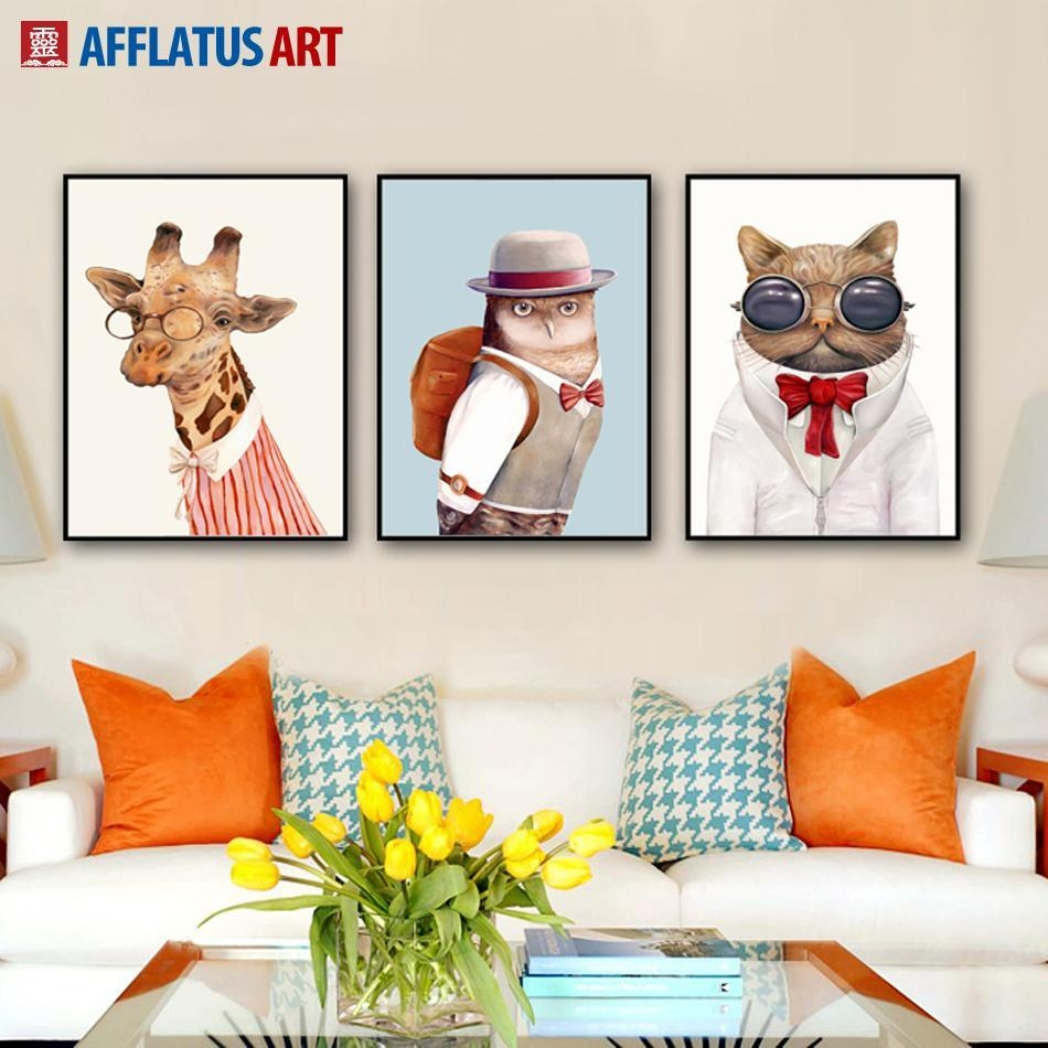 2017 Nordic Animal Wall Art Prints Poster Hipster Wall Picture Intended For Animal Wall Art (View 4 of 20)