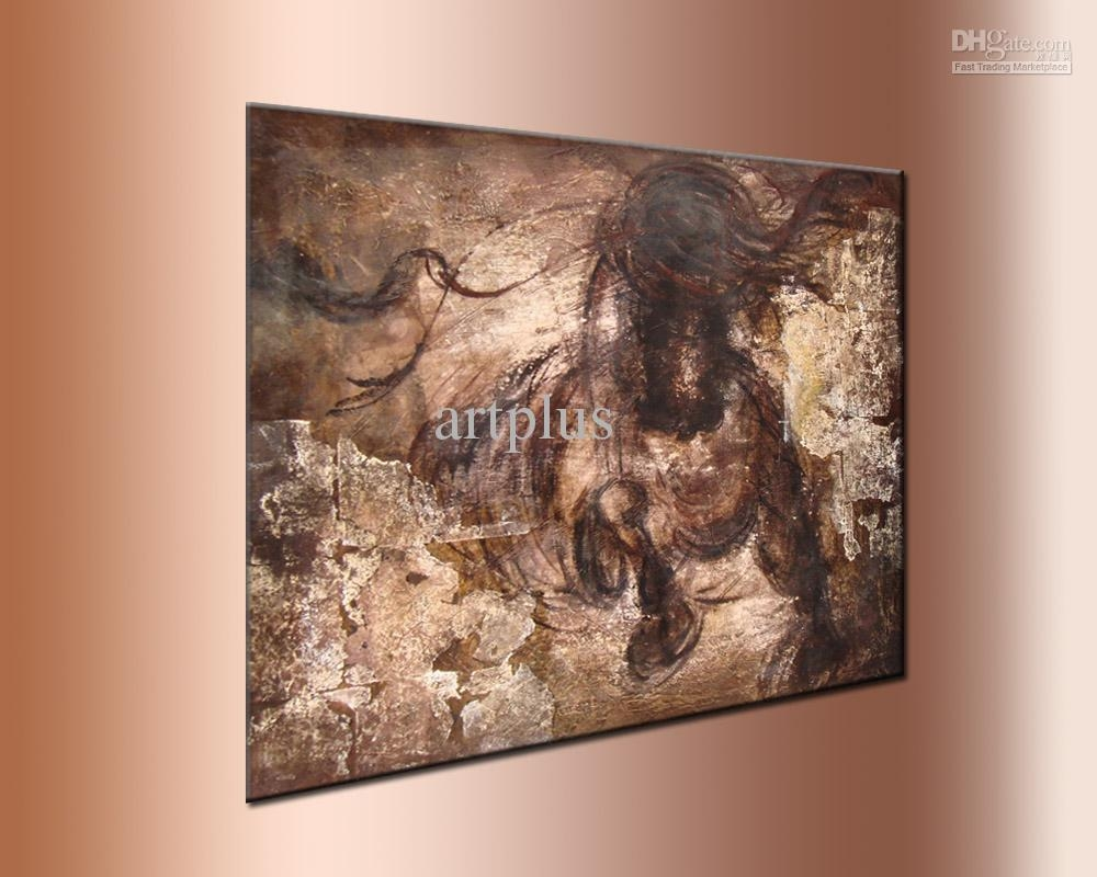 2017 Wall Art ,galloping Horse Oil Painting,handpainted ,thick With Regard To Oil Painting Wall Art On Canvas (View 11 of 20)