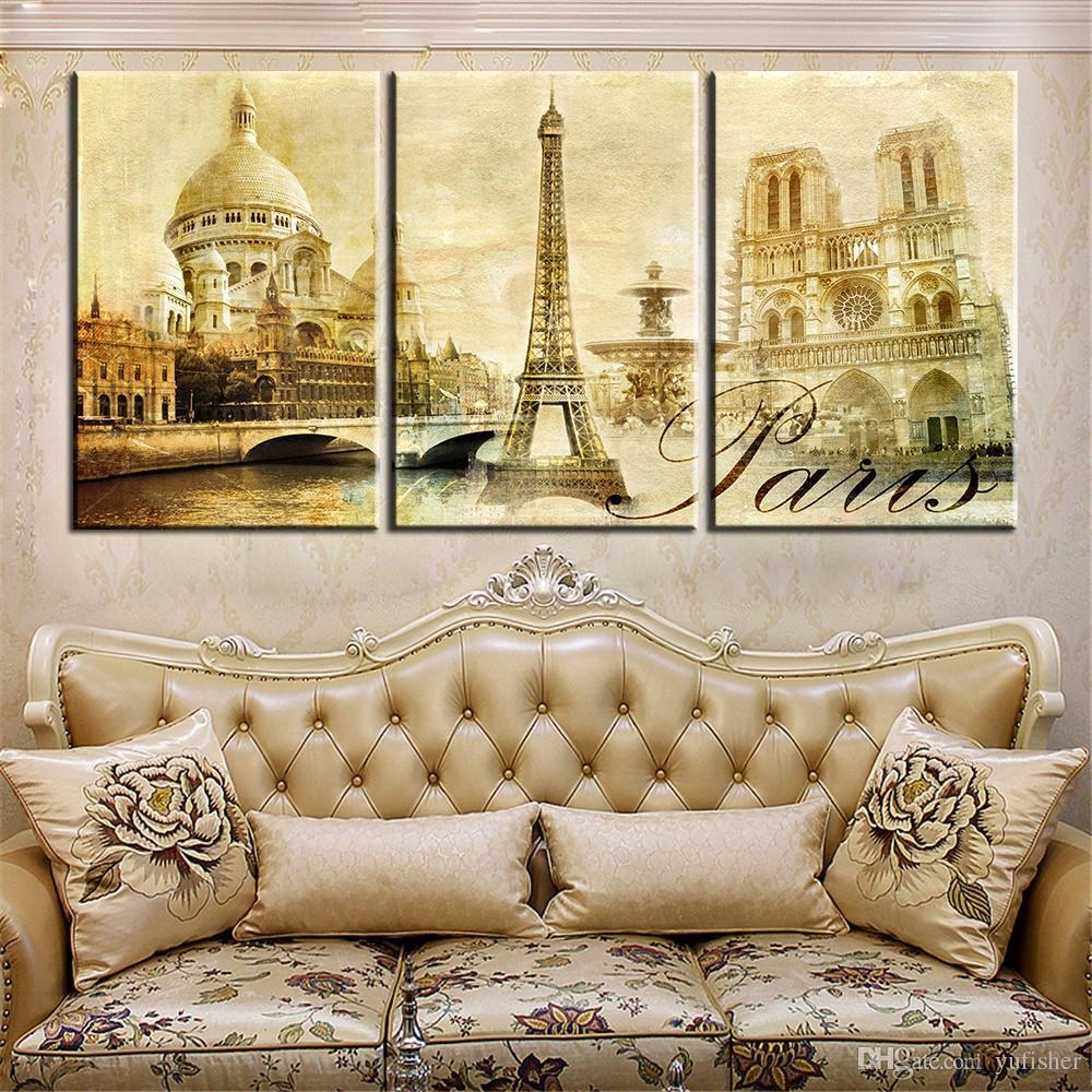 2017 Wall Art Pictures Paris Famous Buildings Large Modern Home With Large Modern Wall Art (View 12 of 20)