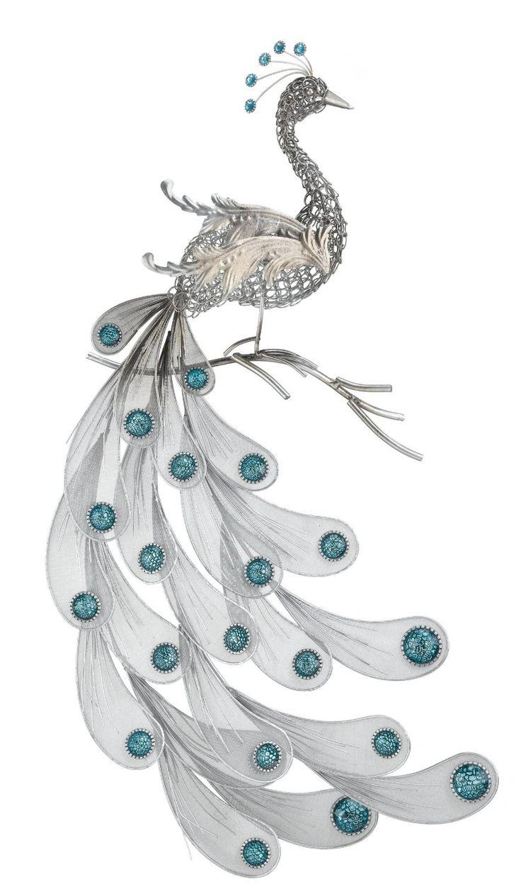213 Best Peacock Metal Art Images On Pinterest | Metal Art Pertaining To Peacock Metal Wall Art (View 7 of 20)