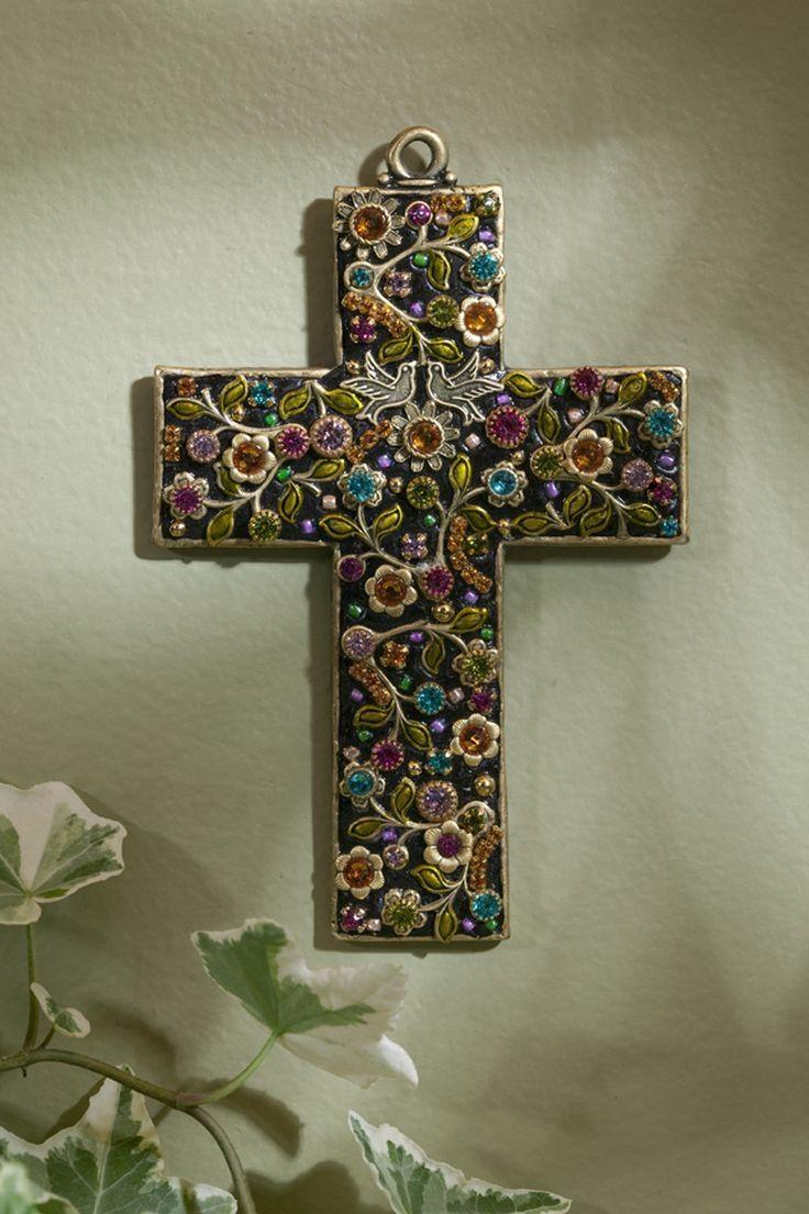 223 Best Crosses Images On Pinterest | Decorative Crosses, Wall Regarding Gemstone Wall Art (Image 1 of 20)