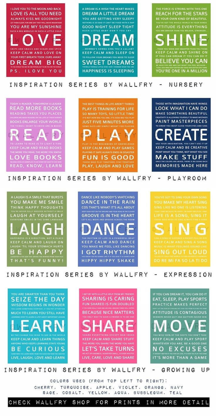 223 Best Quotes About Children Images On Pinterest | Classroom With Etsy Childrens Wall Art (View 16 of 20)