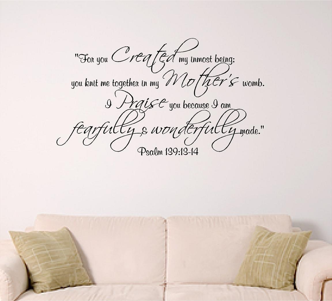 23 Wall Decals Bible Verses Nursery, Christian Bible Verse Vinyl Pertaining To Nursery Bible Verses Wall Decals (Image 2 of 20)