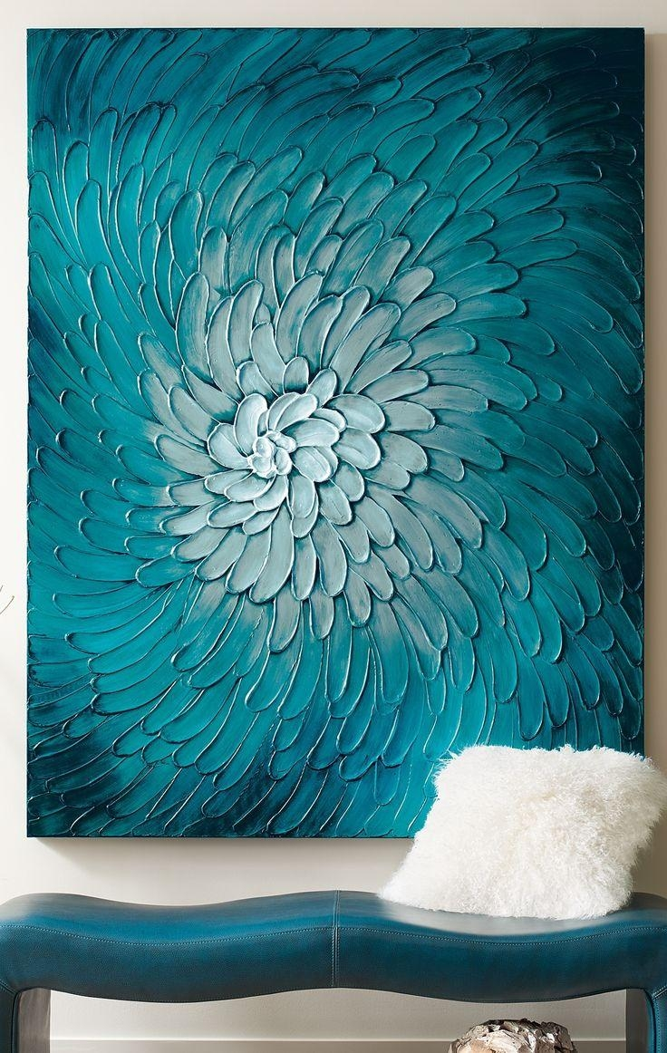 25+ Best Blue Artwork Ideas On Pinterest | Blue Painting, Abstract Pertaining To Orange And Turquoise Wall Art (View 11 of 20)