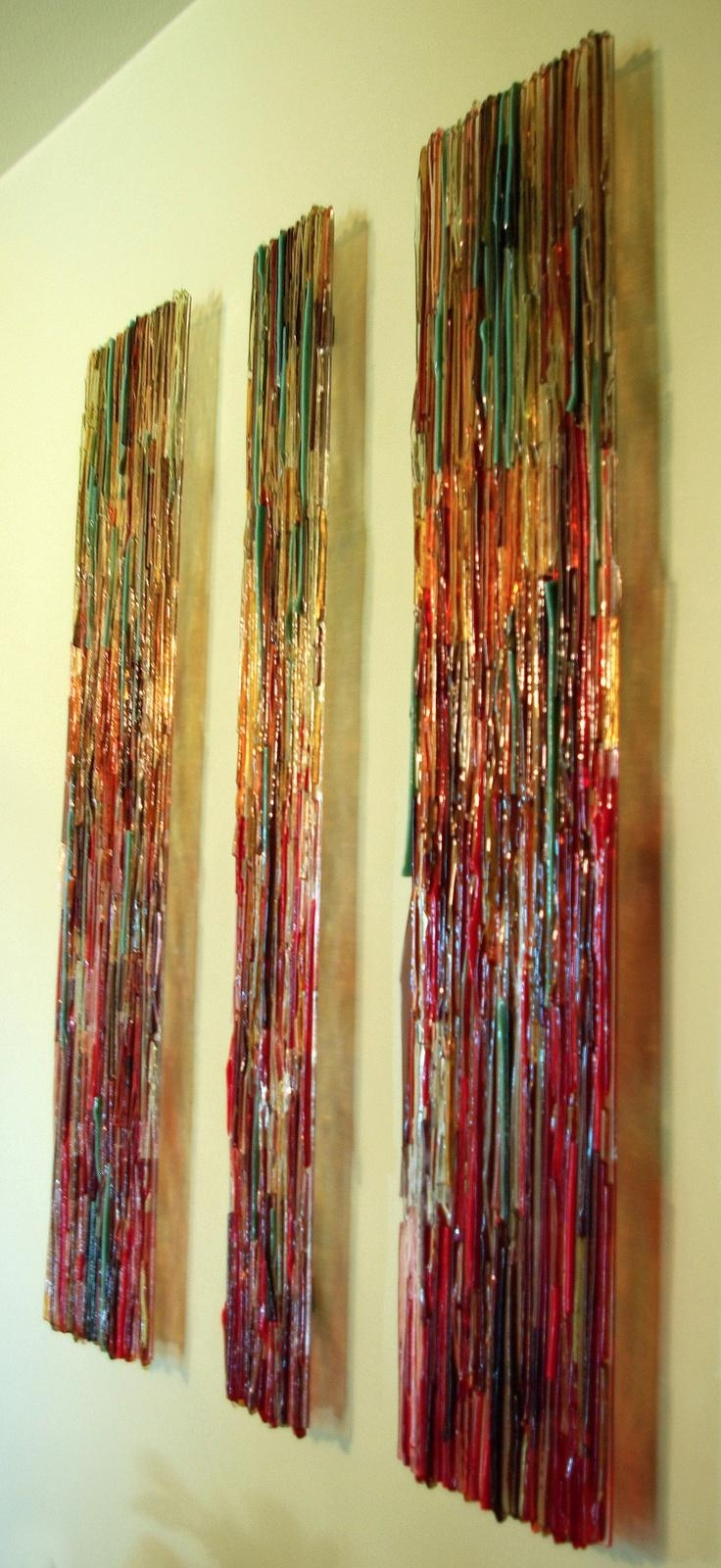 Wall Art Ideas: Fused Glass Wall Art Hanging (Explore #3 of 20 Photos)