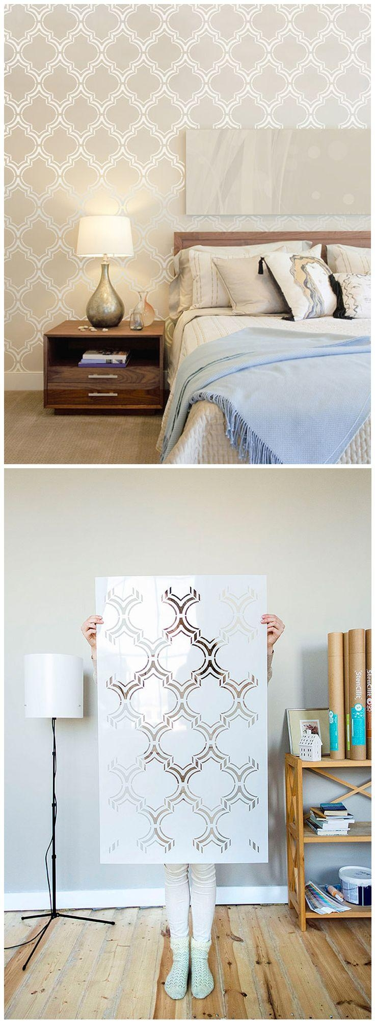 25+ Best Moroccan Wall Stencils Ideas On Pinterest | Moroccan Regarding Space Stencils For Walls (Image 2 of 20)