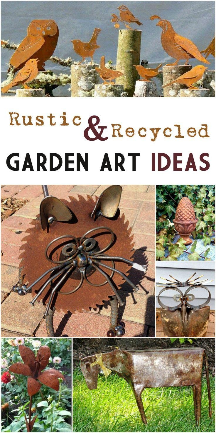 25+ Best Recycled Garden Art Ideas On Pinterest | Recycled Garden In Metal Sunflower Yard Art (Image 3 of 20)