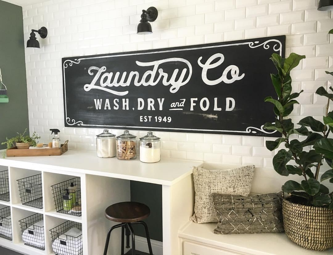 25 Best Vintage Laundry Room Decor Ideas And Designs For 2017 In Laundry Room Wall Art Decors (View 17 of 20)