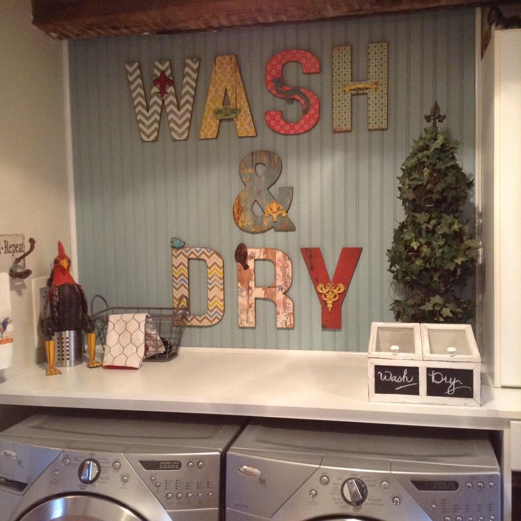 25 Best Vintage Laundry Room Decor Ideas And Designs For 2017 Within Laundry Room Wall Art Decors (View 16 of 20)