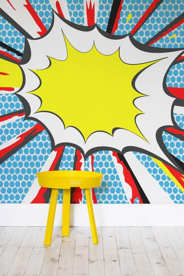 Wall Art Ideas: Pop Art Wallpaper for Walls (Explore #5 of 20 Photos)