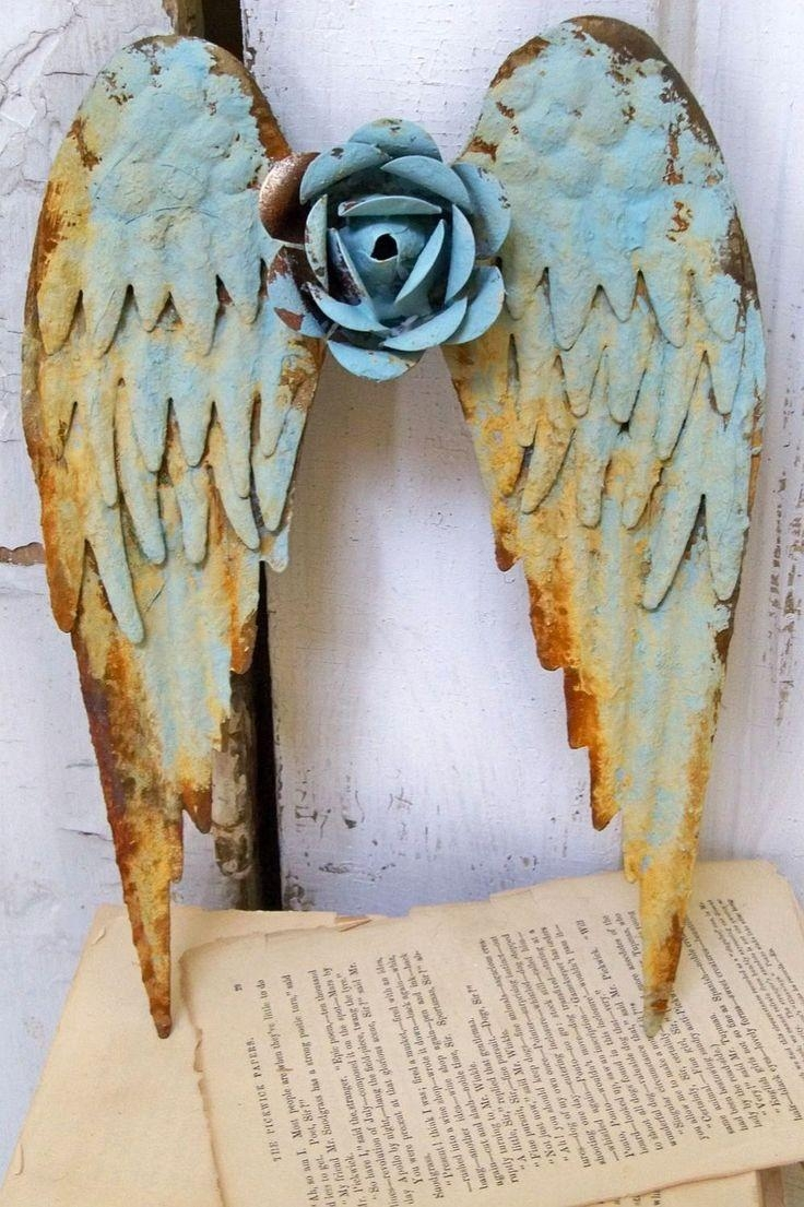 255 Best Angel Wing Inspirations! Images On Pinterest | Angel Within Angel Wings Sculpture Plaque Wall Art (Image 3 of 20)