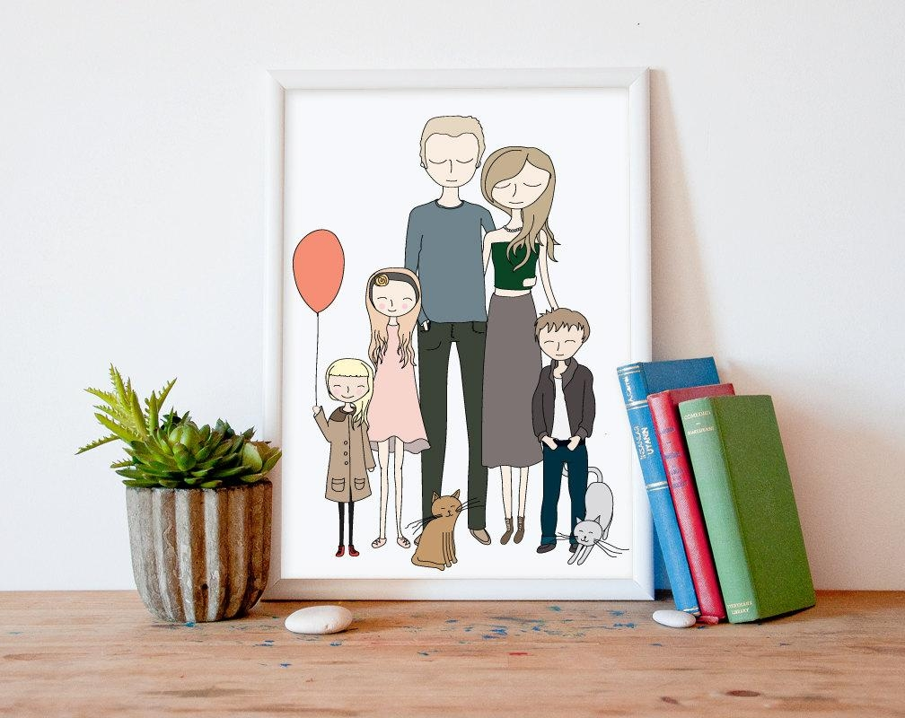 26 Cool Custom Portrait Artists Who Can Make The Perfect Gift Throughout Customized Wall Art (Image 1 of 20)
