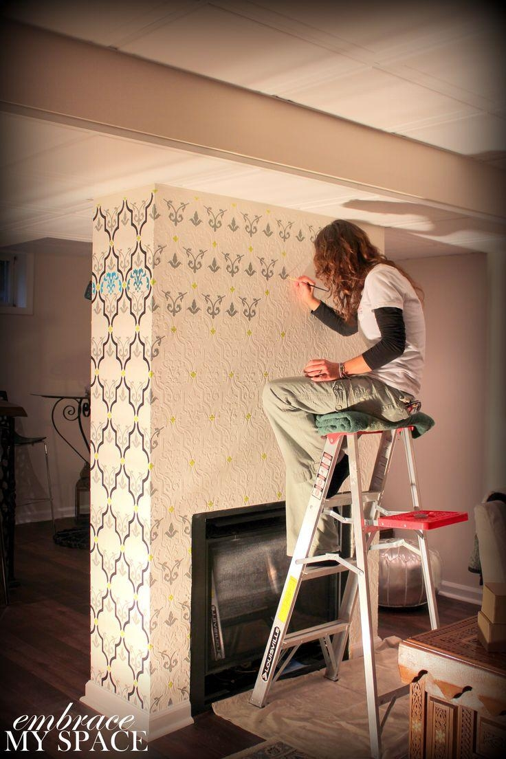 281 Best Diy Stencils Images On Pinterest | Home, Homes And Painting With Regard To Space Stencils For Walls (Image 3 of 20)