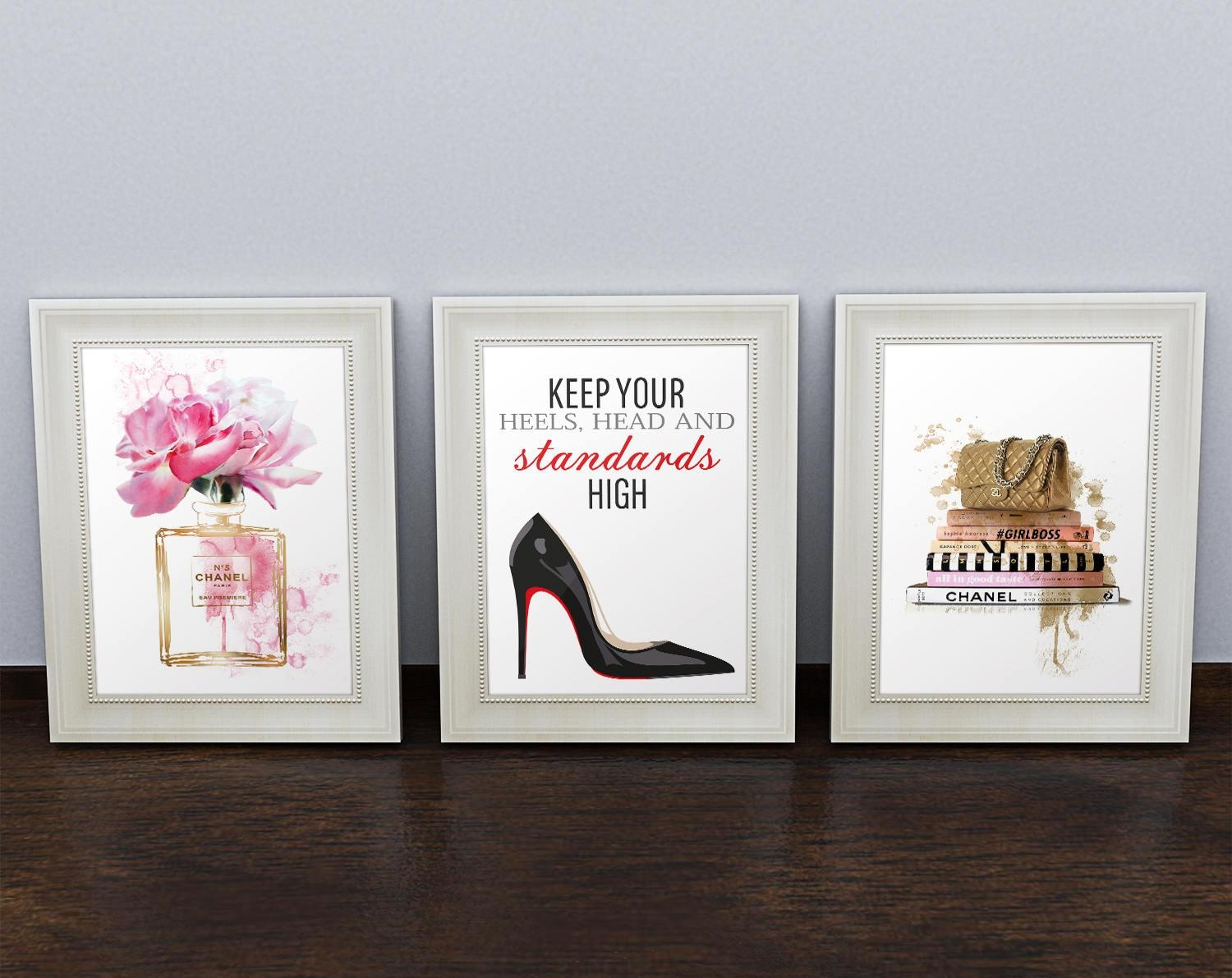 3 Fashion Posters Coco Chanel. Chanel Perfume Chanel Quote inside Coco Chanel Quotes Framed Wall Art