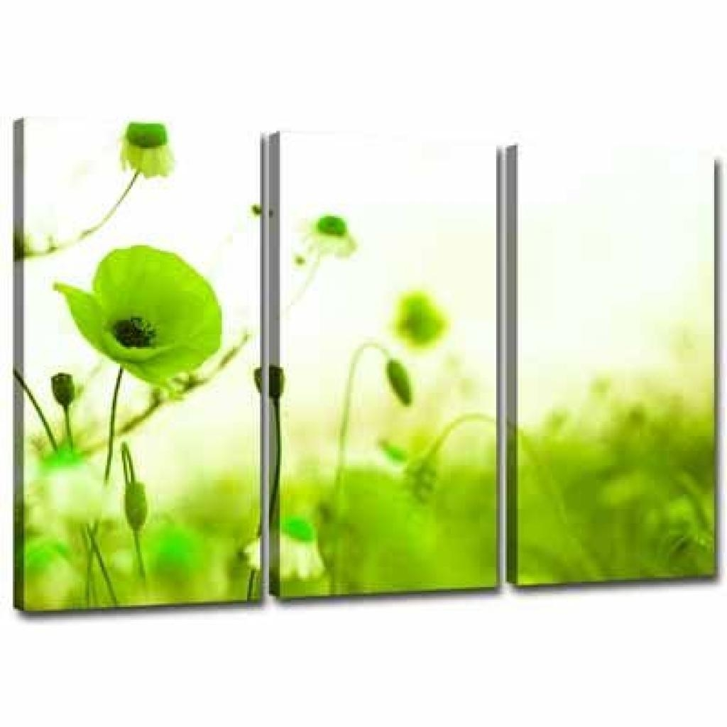 3 Green Canvas Wall Decor | Lime Green Canvas Wall Art 3 Pictures Intended For Green Canvas Wall Art (Image 2 of 20)