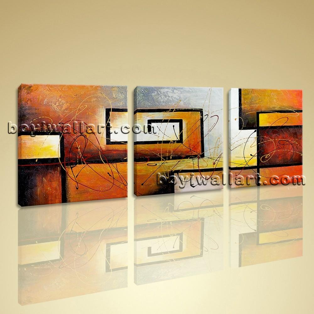 3 Pc Modern Abstract Canvas Wall Art Giclee Print Contemporary Throughout Abstract Canvas Wall Art (Image 2 of 20)