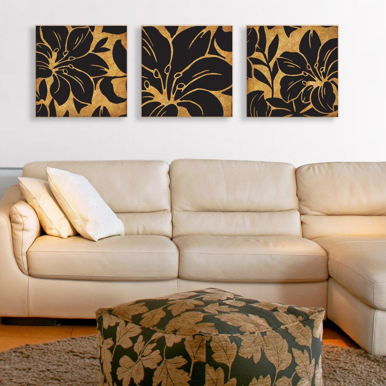 3 Piece Canvas Wall Art | Roselawnlutheran Regarding 3 Piece Floral Canvas Wall Art (Image 3 of 20)