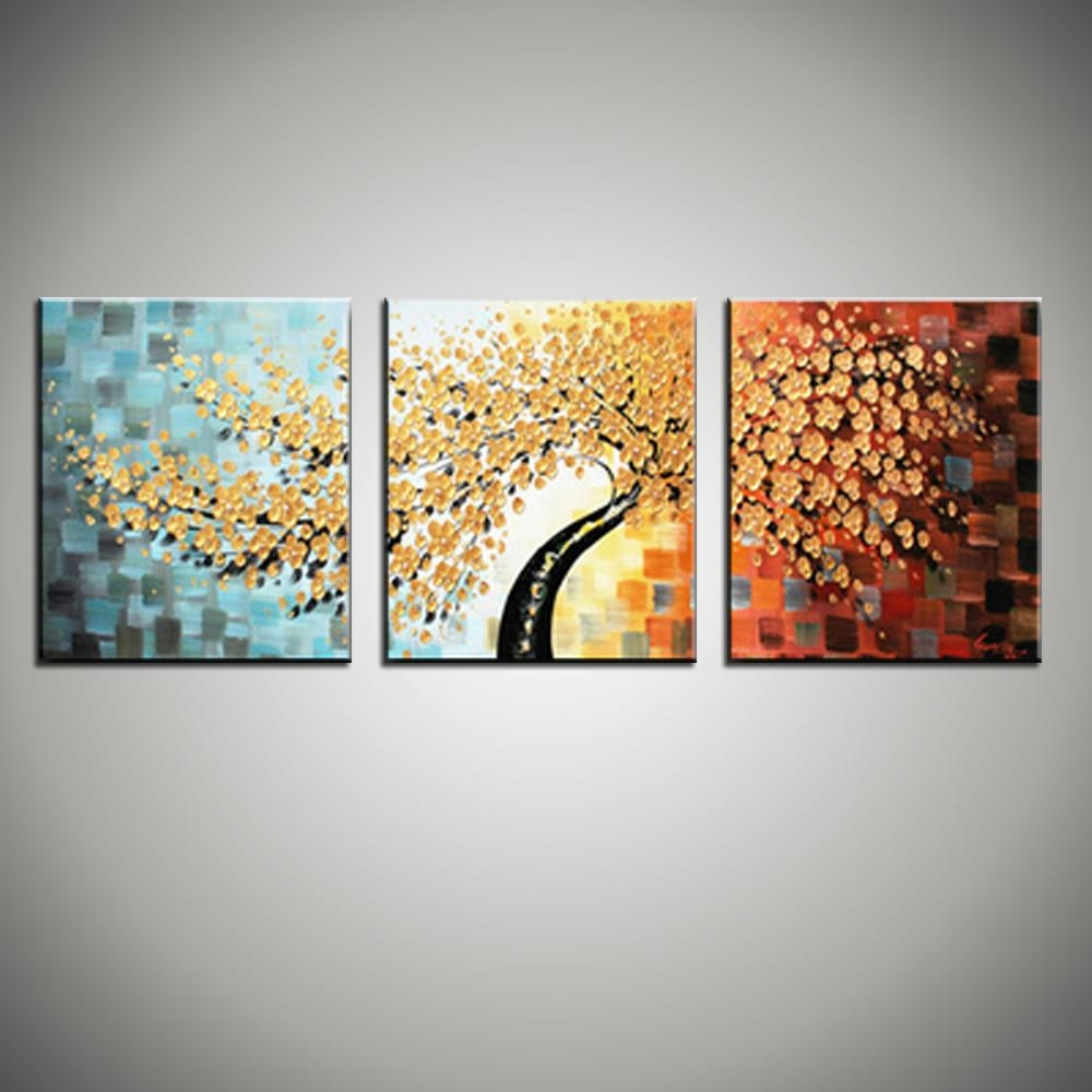 3 Piece Canvas Wall Art Wall Picture Modern Flower Colorful for 3 Piece Floral Canvas Wall Art