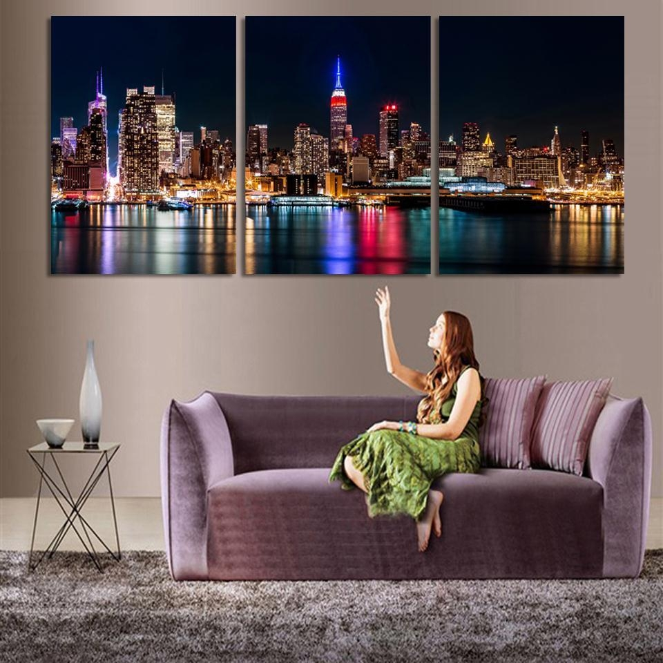 3 Piece Wall Art. . Printed Modular Picture Canvas Painting For pertaining to 3 Piece Wall Art Sets