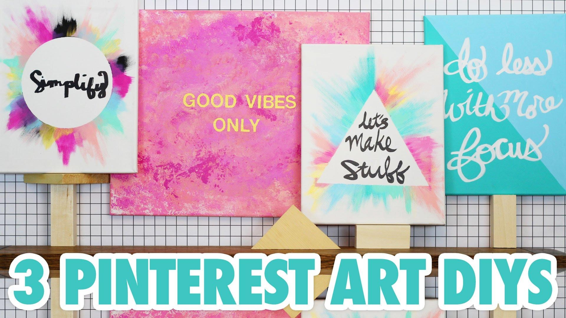 3 Pinterest Art Diys – Hgtv Handmade – Youtube In Diy Pinterest Canvas Art (View 13 of 20)