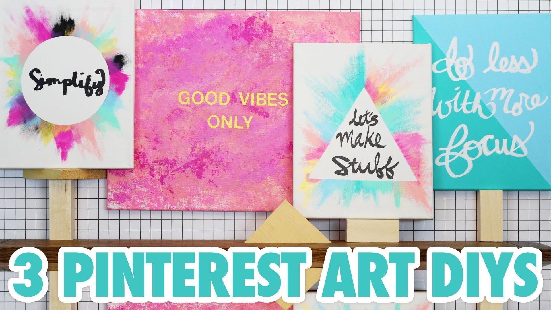 3 Pinterest Art Diys – Hgtv Handmade – Youtube In Diy Pinterest Canvas Art (Image 2 of 20)