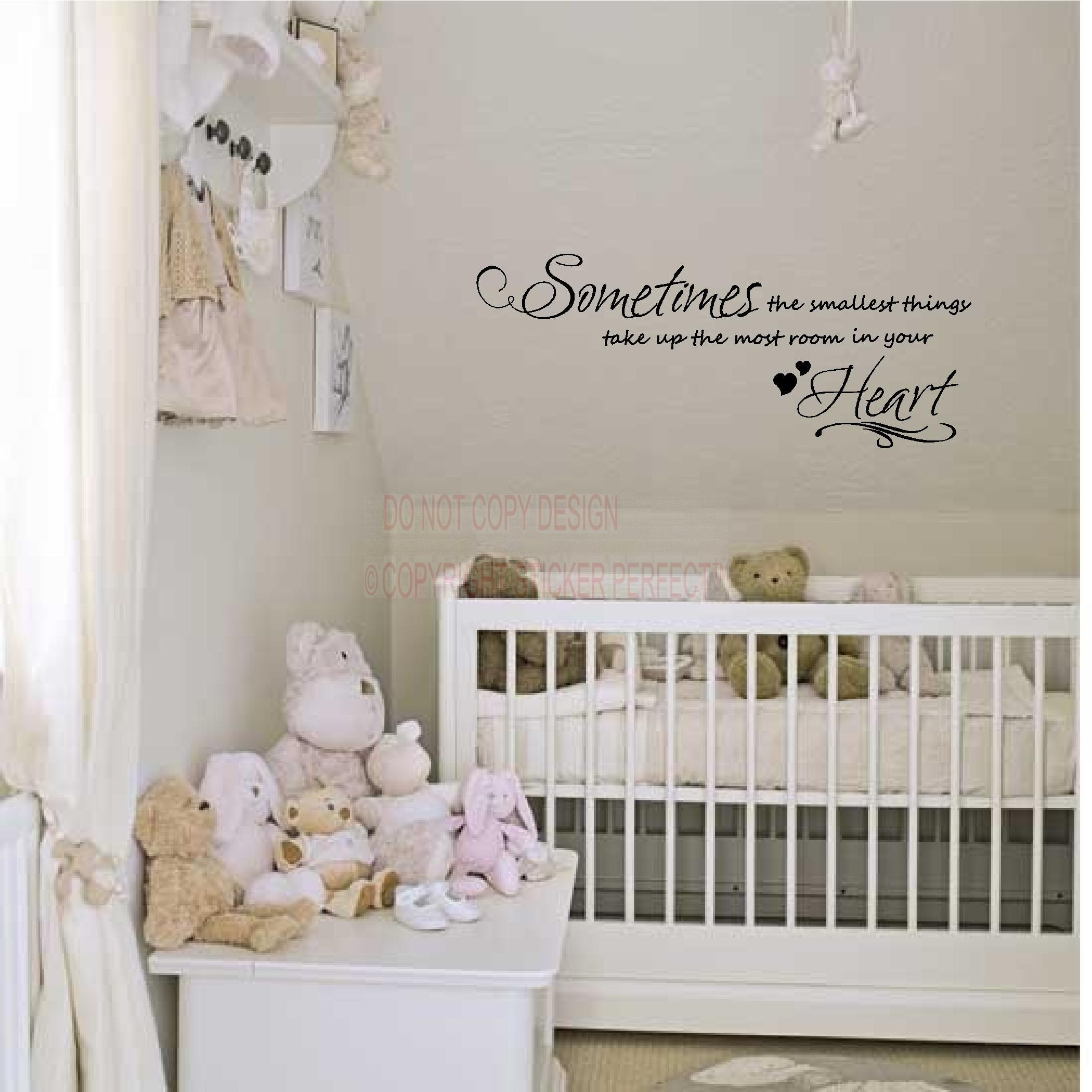 3 Sometimes The Smallest Things Take Up The Most Room In Your With Winnie The Pooh Wall Art For Nursery (Image 1 of 20)