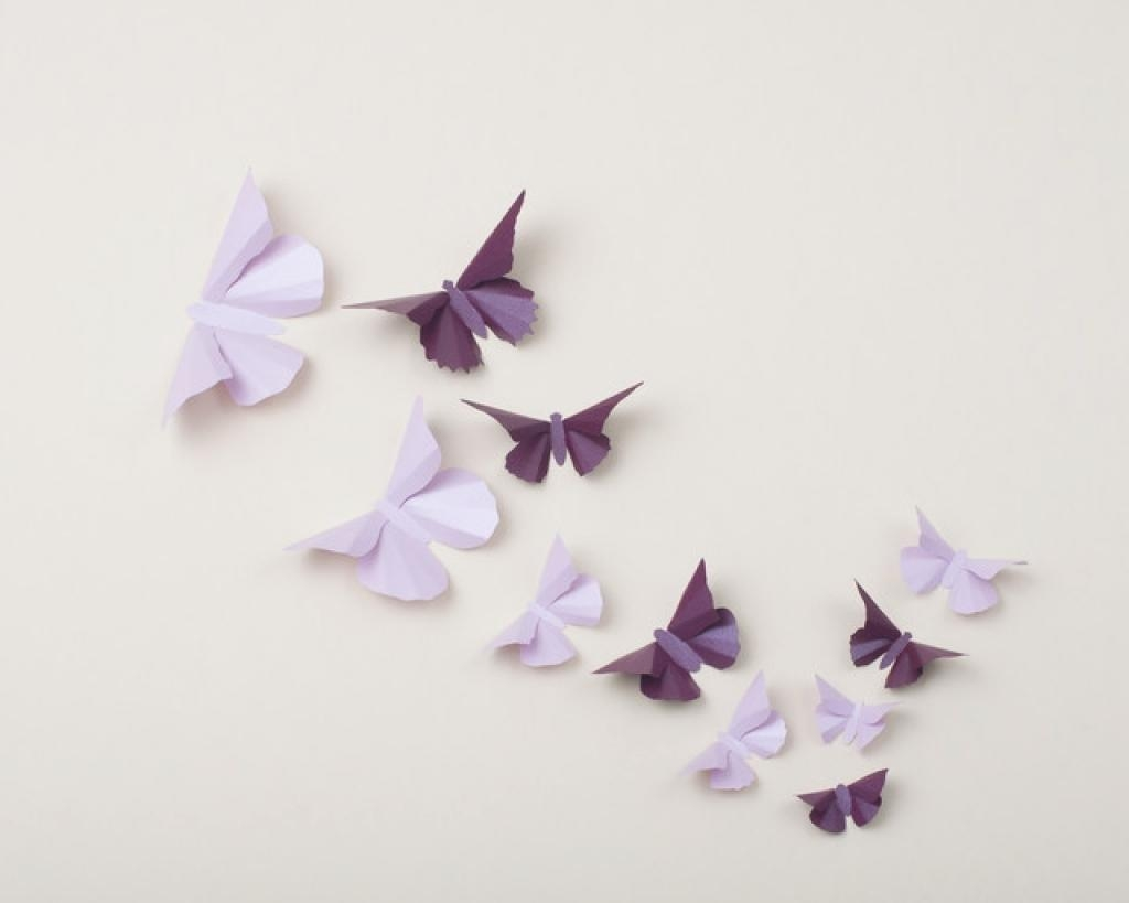 30 Butterflies 3D Butterfly Wall Art 3D Simplychiclily On Etsy 3D In Butterflies 3D Wall Art (Image 1 of 20)