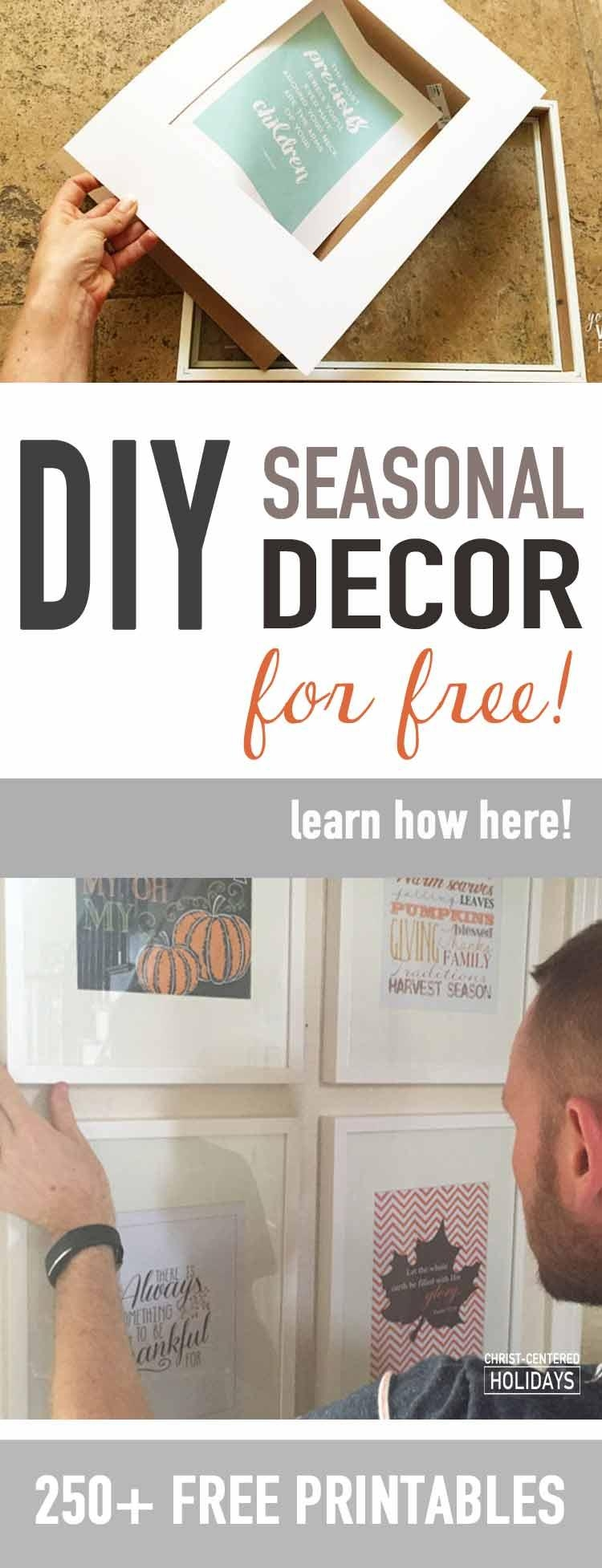 30 Free Christmas Wall Art Printables (Seasonal Home Decor intended for Seasonal Wall Art