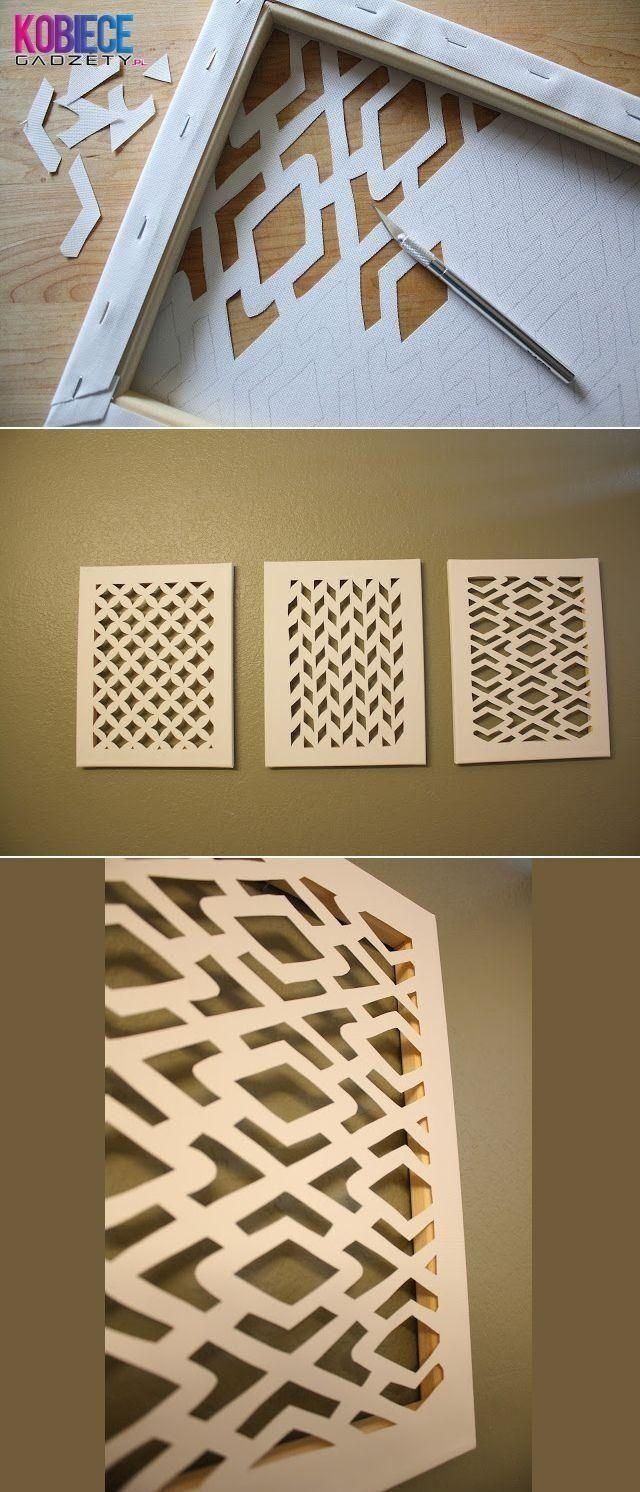 304 Best Diy Art, Mirrors & Wall Decor Images On Pinterest | Diy Regarding Pinterest Diy Wall Art (Image 2 of 20)