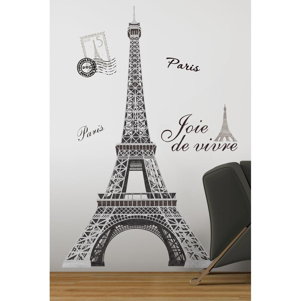 31 Paris Themed Wall Decals, Eiffel Tower Wall Art, Paris Wall for Paris Themed Stickers