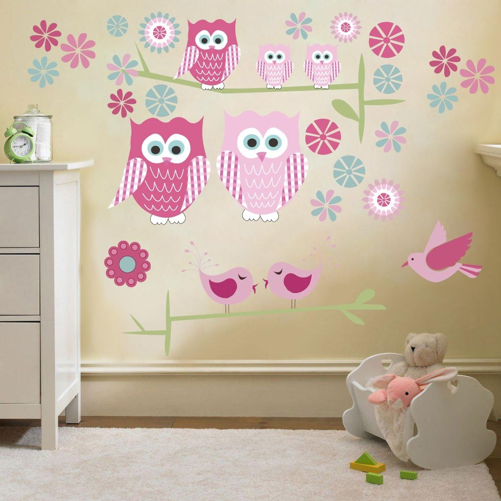 32 Childrens Wall Decals, Childrens Wall Decal Safari Tree Decal Throughout Owl Wall Art Stickers (View 9 of 20)